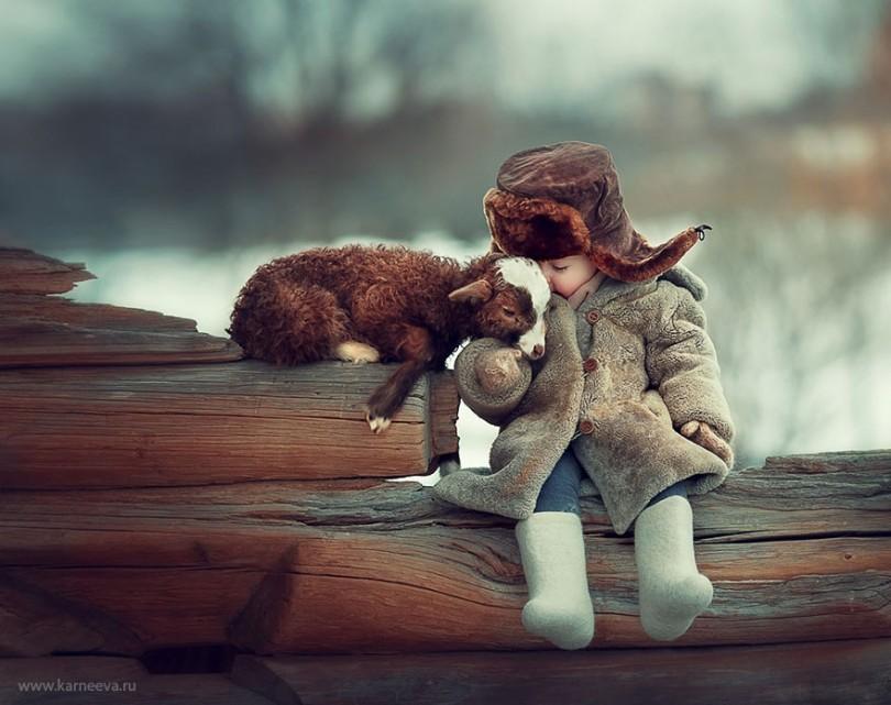 φωτογραφίες παιδιά ζώα