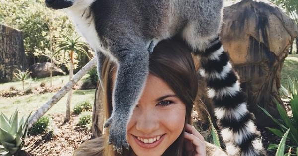 Φίλη με τα άγρια ζώα! (Εικόνες)
