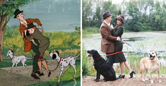 Ζευγάρι αναδημιουργεί σκηνές από την σειρά κινουμένων «101 Σκυλιά Της Δαλματίας». (Εικόνες)