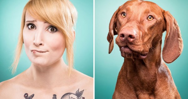 Άνθρωποι ποζάρουν όπως τα σκυλιά τους (Εικόνες)