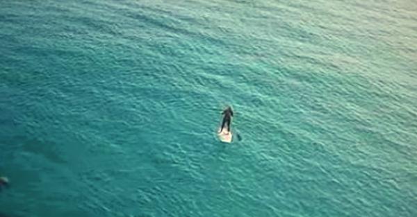 Στην αρχή νόμιζα ότι απλά κάνει σανίδα στην θάλασσα ΜΟΝΟΣ του. Μετά όμως είδα και ΑΥΤΟ! (Βίντεο)