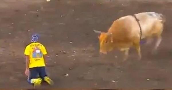 Ταυρομάχος πήγε να το παίξει… έξυπνος στον ταύρο – Δείτε πώς κατέληξε! (video)