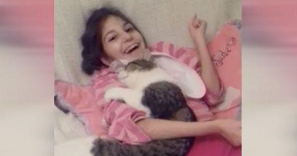 Κανείς δεν ήθελε να υιοθετήσει αυτή τη γάτα από το καταφύγιο που την φρόντιζε, μέχρι που συνάντησε ένα μικρό κορίτσι με ειδικές ανάγκες