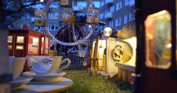 """Μικροσκοπικό λούνα παρκ για ποντίκια """"άνοιξε"""" στην Σουηδία!"""