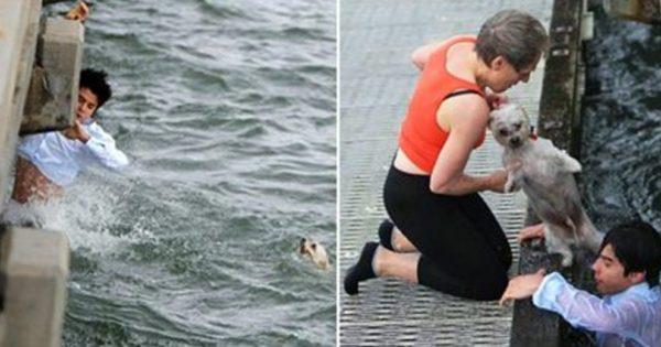 Στεκόταν στην προβλήτα όταν είδε έναν σκύλο να πνίγεται στη θάλασσα. Αυτός ο αντρας είναι αληθινός ήρωας!