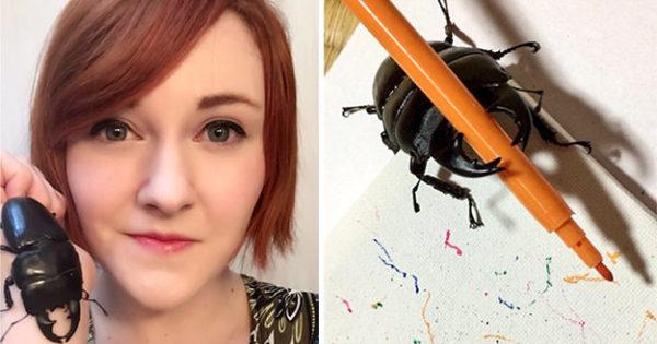 Αυτό το σκαθάρι λατρεύει να ζωγραφίζει και έχει κάνει όλο το διαδίκτυο να το ερωτευτεί!