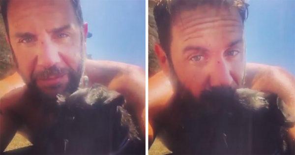 O Γιώργος Μαζωνάκης υιοθέτησε πυροαδέσποτο σκυλί και ανέβασε βίντεο με το νέο του φίλο