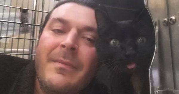 Μια συγκινητική ιστορία: Οδηγός φορτηγού σταματάει για να σώσει τραυματισμένο γάτο και τελικά τον υιοθετεί!