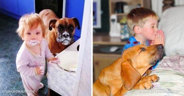 20 φωτογραφίες που δείχνουν ότι η ζωή είναι πιο όμορφη όταν έχεις παιδιά και κατοικίδια