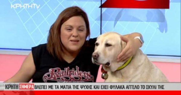 Αρνήθηκαν την είσοδο στο σκύλο-οδηγό της τυφλής ψυχολόγου Ι.Γκέρτσου σε σεμινάριο για τα ζώα θεραπείας!