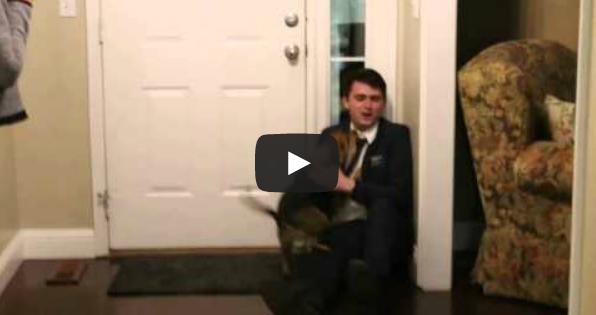 Το συγκινητικό καλωσόρισμα του σκύλου στο αφεντικό του που έλειπε δύο χρόνια!