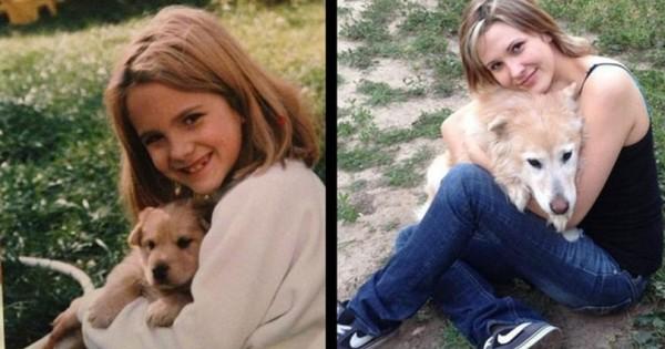 Θα χαμογελάσετε και θα συγκινηθείτε όταν συνειδητοποιήσετε πόσο γρήγορα μεγάλωσαν αυτά τα σκυλιά (Εικόνες)