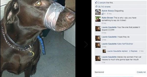 Έδεσε με μονωτική ταινία το στόμα του σκύλου της επειδή εκείνος «δεν το βούλωνε»