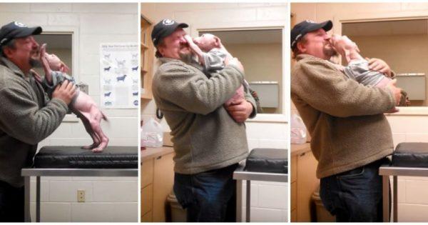 Τρελάθηκε από τη χαρά του το σκυλάκι, όταν ο άνθρωπος που το έσωσε γύρισε για να το υιοθετήσει!