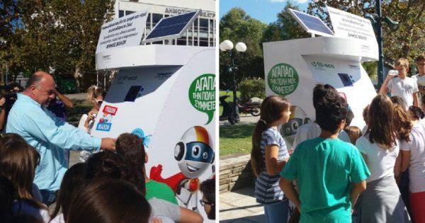 Εγκαταστάθηκε το πρώτο αυτόματο μηχάνημα που παρέχει τροφή και νερό σε αδέσποτα στην Ελλάδα