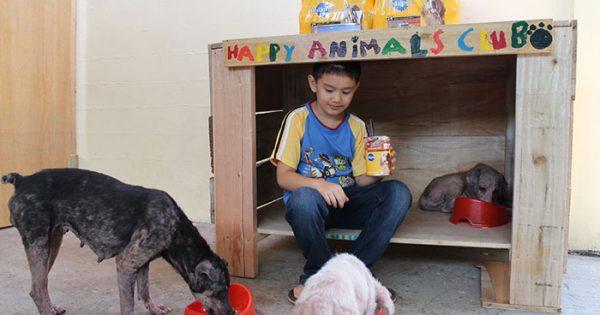 9χρονο αγόρι δημιούργησε ένα καταφύγιο ζώων στο γκαράζ του σπιτιού του!