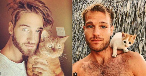 40 όμορφοι άντρες με γατάκια σε ένα hot λογαριασμό του ίνσταγκραμ