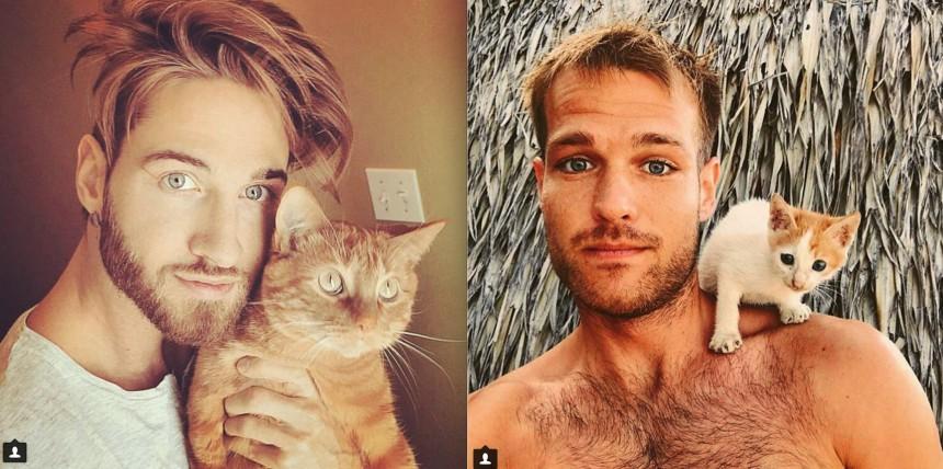 ίνσταγκραμ γάτες γατάκια άντρες