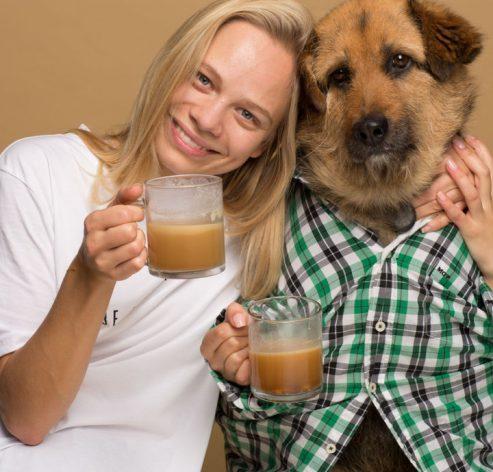 Σκύλος καφές rooffee